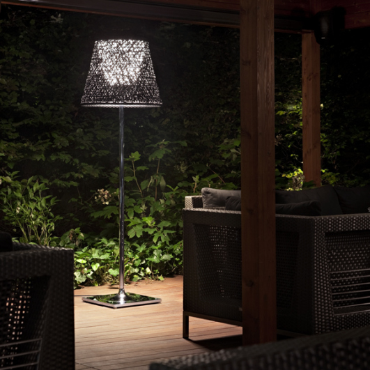 floor lamps can be used around casual seating areas or on a patio. Black Bedroom Furniture Sets. Home Design Ideas